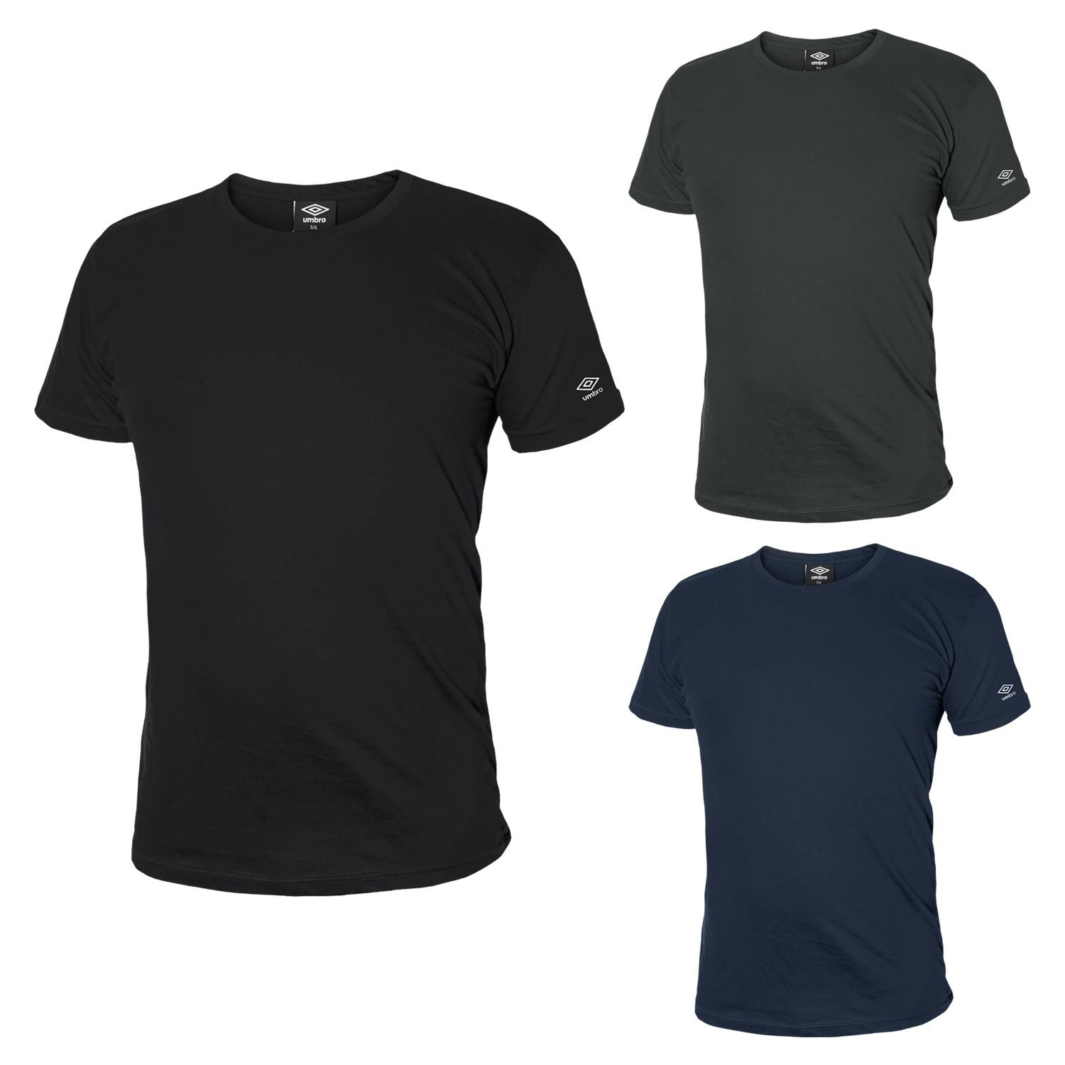 Pack-3-T-Shirt-Uomo-UMBRO-Manica-Corta-Assortito-Art-6047-8