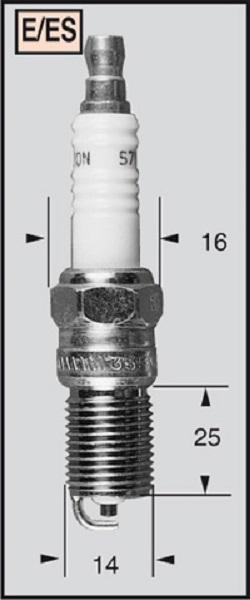 4x Champion Copper Plus Spark Plug RES9YCC4