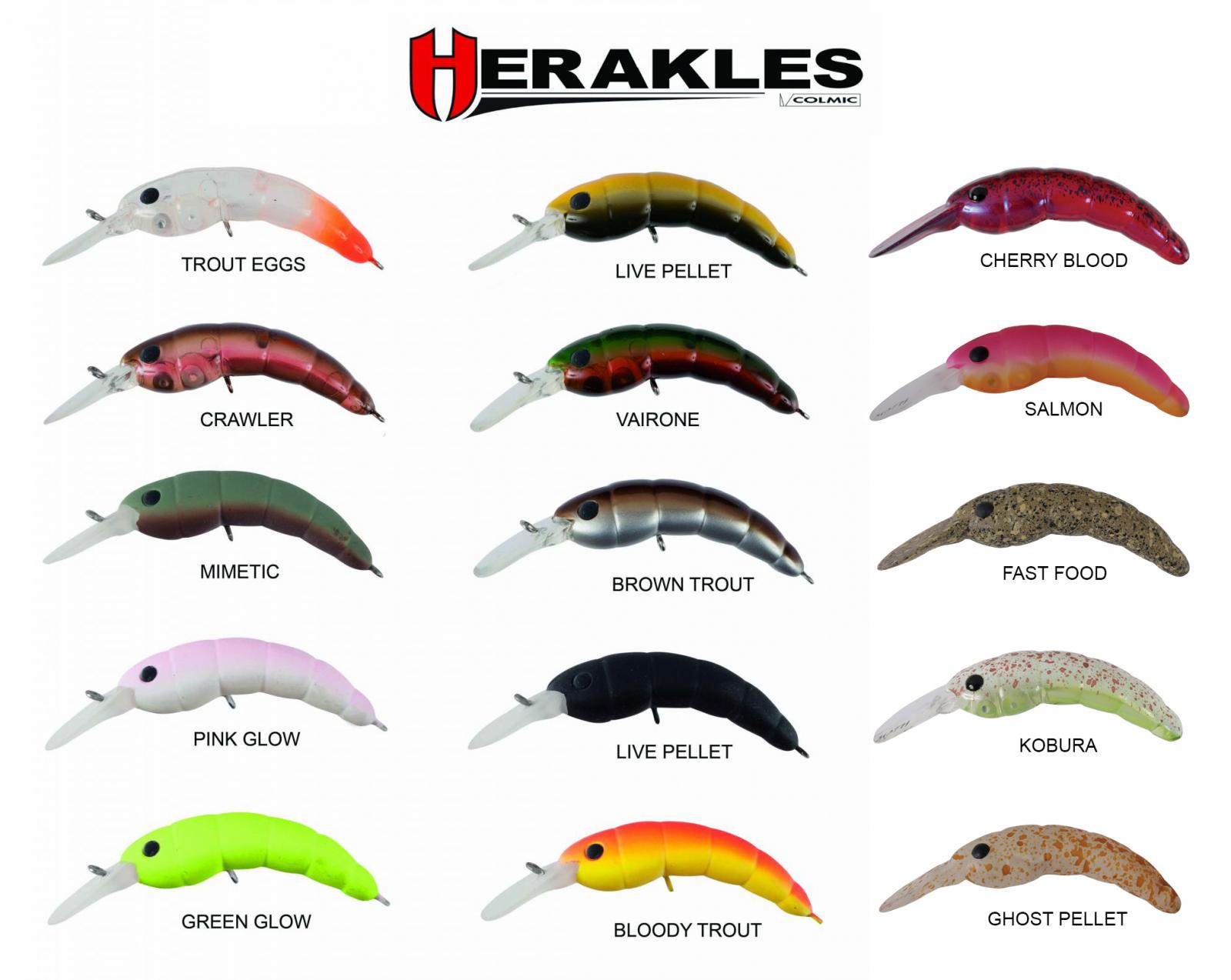 Esca Artificiale Herakles Moth Crank Sinking Pesca Trota Trout Area  PP