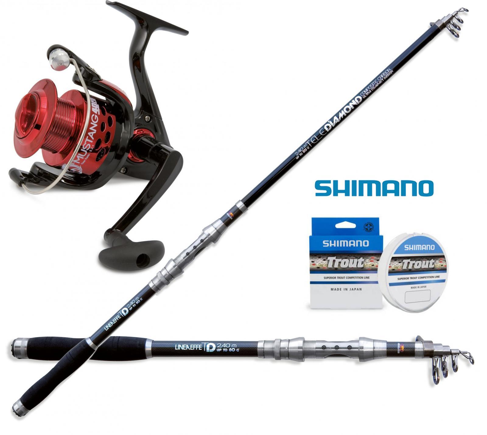 KP3542 Kit Kit Kit Canna pesca Diamond Tele Spin 210cm Mulinello 3000 filo shimano RNG ce6da8