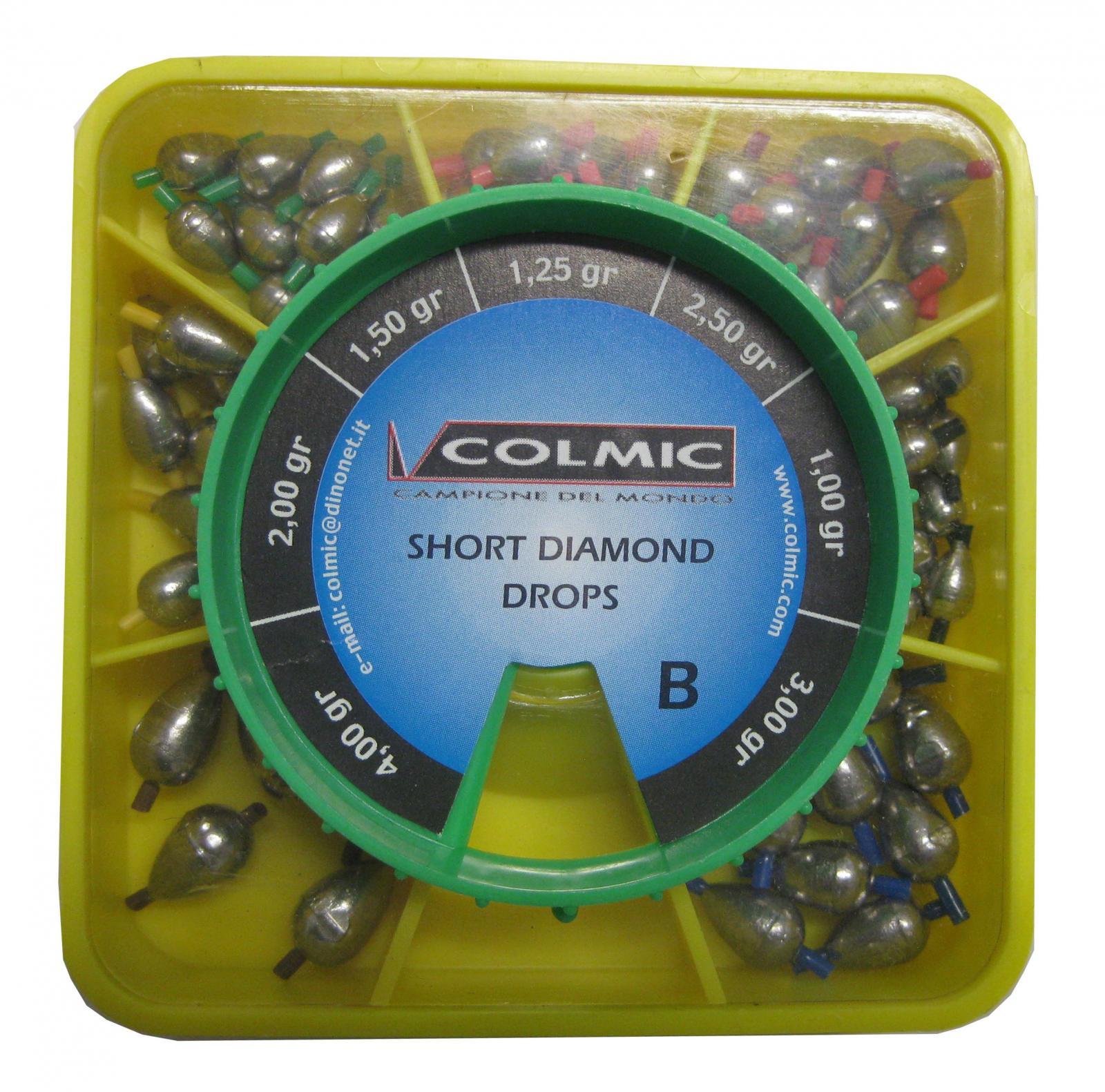 POMA02C Piombi Mascotte Pesca Torpille Colmic Long Diamond Box C 2-6 Gr FEU