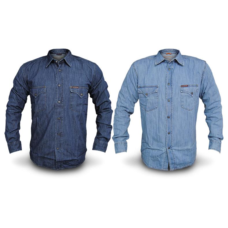 2024e42072924a Camicia Jeans Uomo CARRERA Art.205 Regular Denim Tg S/M/L/XL/XXL 2 VARIANTI  DD