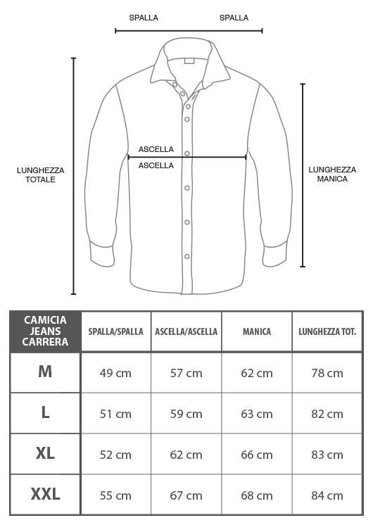 pretty nice 732f6 e09ec Dettagli su Camicia Jeans Uomo CARRERA Art.205 Regular Denim Tg  S/M/L/XL/XXL 2 VARIANTI DD