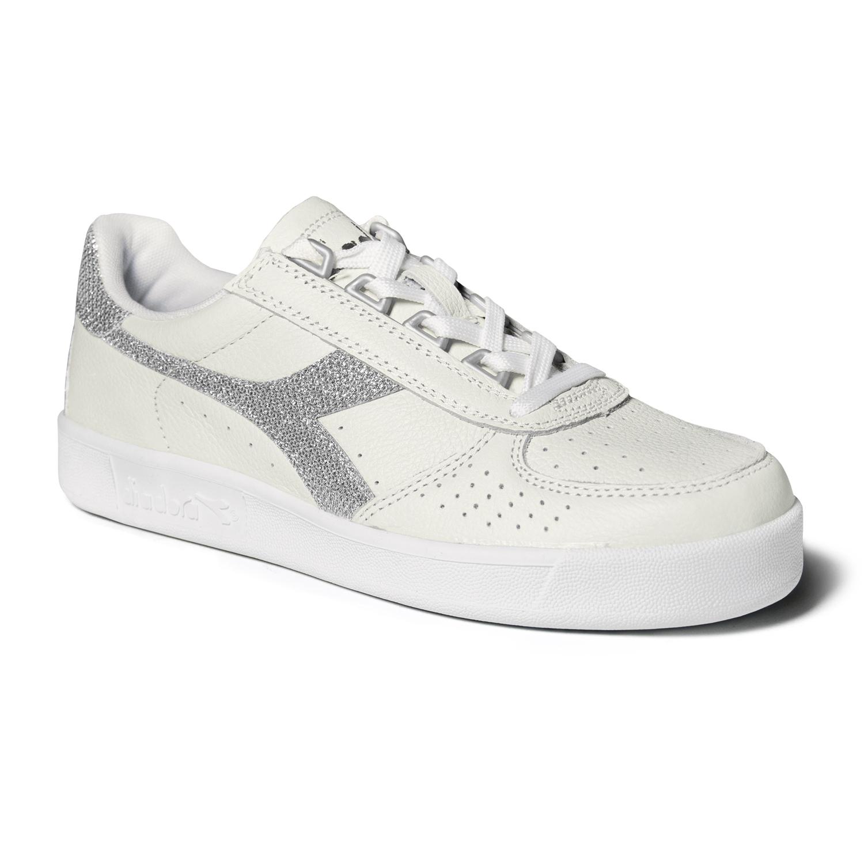 7bbb0767eb0af DIADORA Borg Elite Bianco Tg UK 6 Nuovo in Scatola. Scarpe Sneaker Uomo  DIADORA Modello Game L Low Waxed White Blue Caspian ...