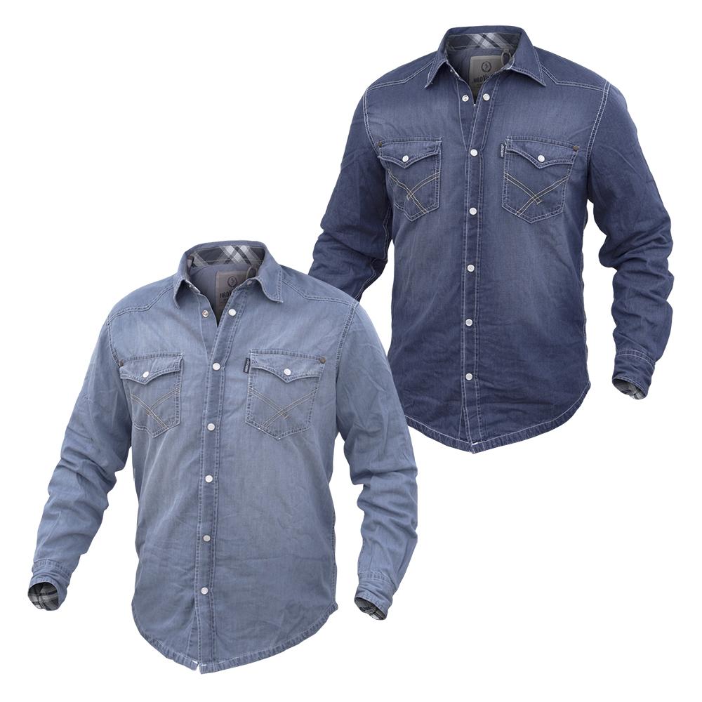 new concept 4ca13 abd4c Camicia Uomo HEROD VINTAGE Jeans Manica Lunga 2 Varianti ...