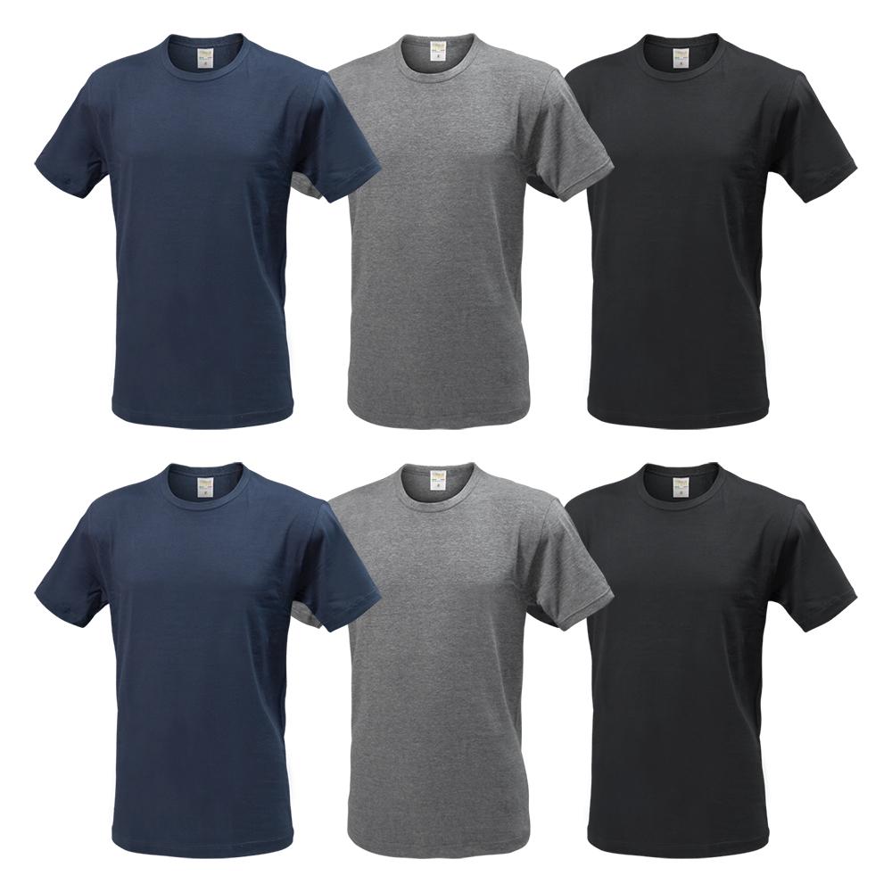 Assortito Cotone Art.700 Pack 6 T-Shirt Uomo NOTTINGHAM Bianco
